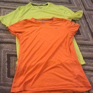 Neon nike running shirts